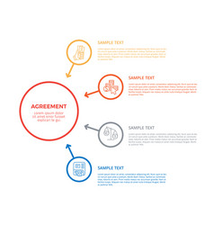 agreement infographic poster vector image