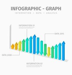 Arrow graph vector image