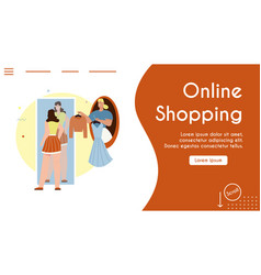 banner online shopping vector image