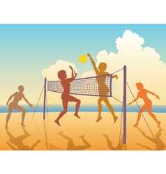 Beach game vector