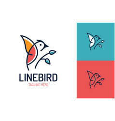 bird logo design template in isolated white vector image