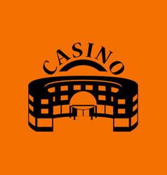 Casino building icon vector