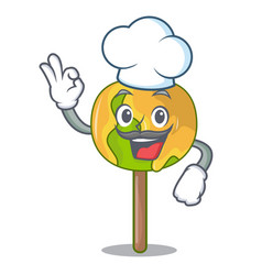 Chef candy apple character cartoon vector