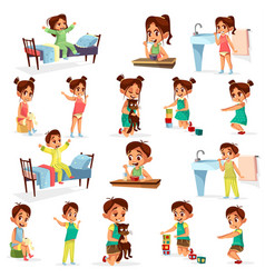 Children mix activities pack vector
