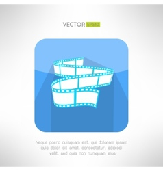 Cinema footage tape icon in modern clean and vector