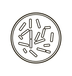 Colony of Bacteria Icon vector