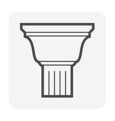 crown cornice icon vector image