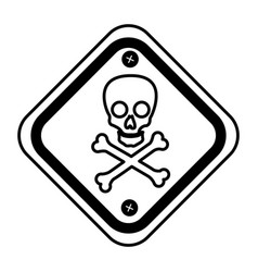 diamond caution sign icon vector image