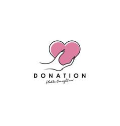 donation logo design template vector image