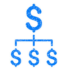 Financial hierarchy grunge icon vector