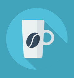 Flat modern design with shadow cup coffee vector