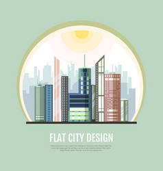flat style modern design urban city landscape vector image