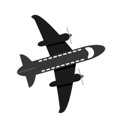 flying airplane icon vector image