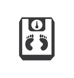 footprints scale icon vector image