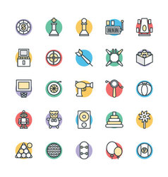 Gaming Cool Icons 3 vector image