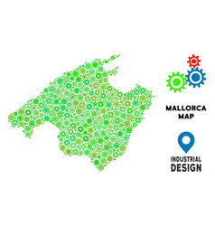 Gears spain mallorca island map composition vector