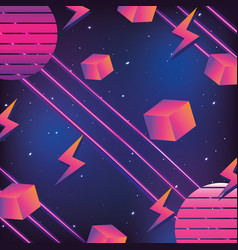 geometrical futuristic backgrouns vector image
