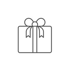 Gift box line outline icon vector
