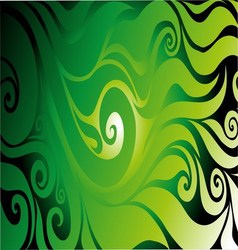 Green seamless on dark background with abstract vector