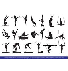Gymnastics silhouette image vector