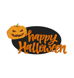 Happy halloween poster - modern colorful vector