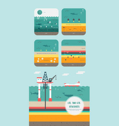 how to petroleum fossil fuel was form vector image