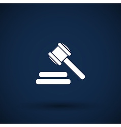 icon gray background gavel law legal hammer vector image