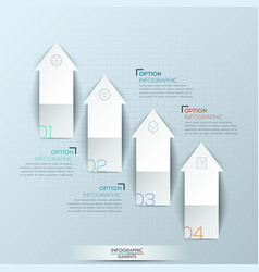 infographic design layout with 4 numbered upward vector image