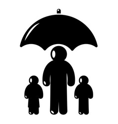 insurance family icon simple black style vector image