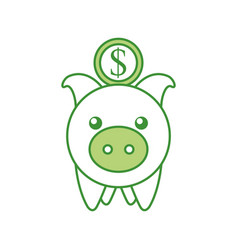 investment piggy coin dollar banking saving vector image