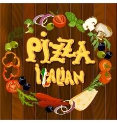Italian Food Background vector image
