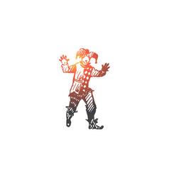 jester costume funny carnival concept vector image