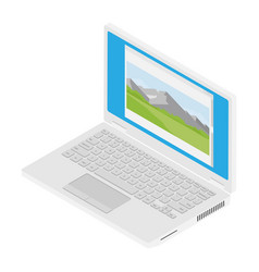 laptop computer isometric vector image