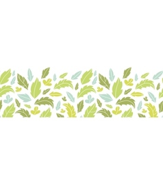 leaves silhouettes horizontal seamless pattern vector image