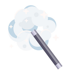 magic wand icon magician fantasy and wishes vector image