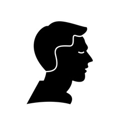 man profile icon sign o vector image