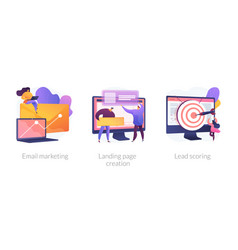 marketing automation concept metaphors vector image