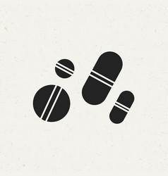 Medical pills icon vector