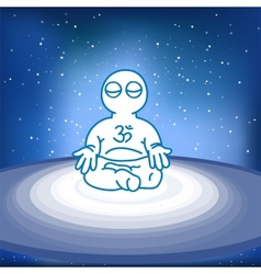 meditating person in space vector image