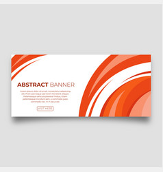 modern abstract banner vector image