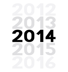 New year 2014 is coming soon5 vector image