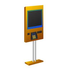 Payment kiosk icon cartoon style vector