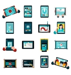 Phablet Icons Set vector image