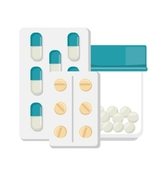 pharmaceutical drugs medication pills vector image