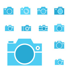 photo camera icon or snapshot sign vector image