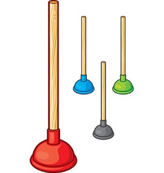 Plungers vector image vector image