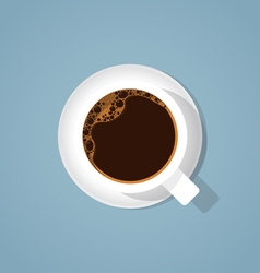 Realistic coffee cup vector image