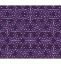retro violet flowers pattern vector image