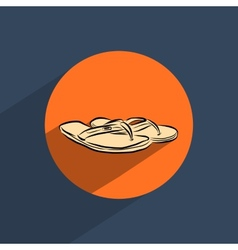 Sandals shoes flat doodle icon vector image