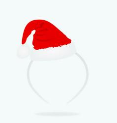 Santa claus hat headband vector